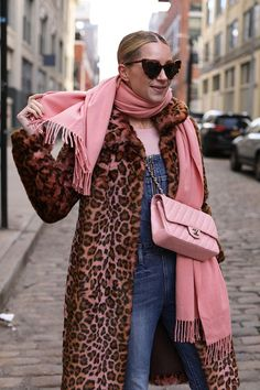 Blair Eadie is talking about statement coats for the holidays // Furry, leopard print, and embellished // Click through to see her picks on Atlantic-Pacific Winter Fashion Outfits, Fall Winter Outfits, Autumn Winter Fashion, Fall Fashion, Mature Fashion, Passion For Fashion, Chanel Rose, Pink Outfits, Trends