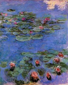 Red Water-Lilies : Claude Oscar Monet : Museum Art Images : Museuma