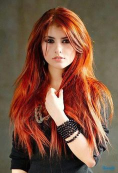 love this look!!!-------- beautiful girls with red hair | reddish brown hair pretty white face red head hair girl