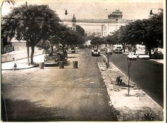 9 de Julho, avenida - obras de alargamento, vista em direção a avenida Brasil - Jardim Paulista -1959-01-03