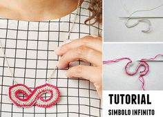 Patrones Crochet: Simbolo infinito colgante de crochet tutorial