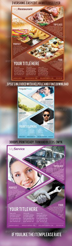 MultiUse Business Flyer A4 — Photoshop PSD #photography #size • Available here → https://graphicriver.net/item/multiuse-business-flyer-a4/3023852?ref=pxcr