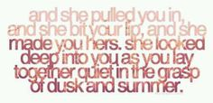 "Dashboard Confessional...... Another favorite lyric... ""And she made you hers..."""