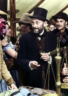 THE FAR COUNTRY (1954) - John Stewart - John McIntire (pictured) - Directed by Anthony Mann - Universal-International - Publicity Still.