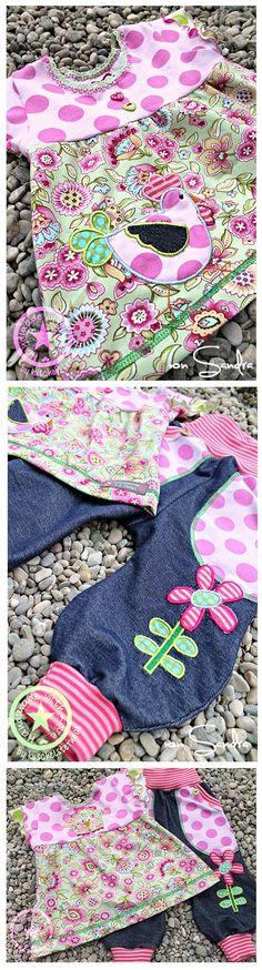 Designbeispiel von Sandra Der Stickbär Spring Quilt Zauberhafte Frühlings-Applikationen mit der Stickmaschine
