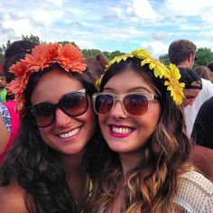 Buyer's Remorse Floral Halos @governorsball #festival