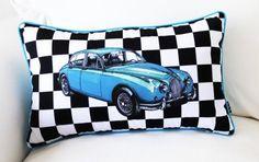 New Modern Blue Car Check Art Lumbar Pillow Case Decorative Cushion Cover Sham Great Deal Happy,http://www.amazon.com/dp/B00E1LCKFC/ref=cm_sw_r_pi_dp_vU1Esb1693F9Q4CF