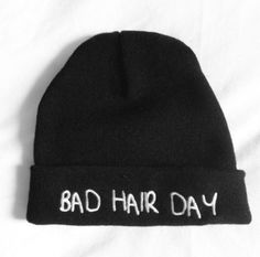 hat beanie black beanie bad hair day hat black beenie colthes t-shirt clothes bad hair day bad hairstyles day white warm warmth quote on it swag yolo hipster lol love tumblr badhairday brandy melville usa blonde hair brunette cute summer outfits winter outfits fall outfits lovely hot cool tumblrgirl omg must have cold hoodie one direction funny bad hair day beanie