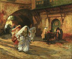 """In the Souk"" by Frederick Arthur Bridgman, date unknown"