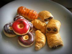 Miniature food breakfast/Polymer clay food miniatures