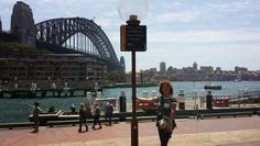 Sydney Old Harbour.  Costs around $300.00 to walk the arch of the bridge.  Yikes!  Walked across instead.  Sydney is huge!  Around 5mill people!