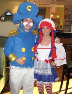 Homemade Cap'n Crunch Costume: So this Cap'n Crunch Costume was my 2007 Halloween costume and I was in my senior year of HS.  I made the hat out of 2 pieces of 1 foam that were shaped
