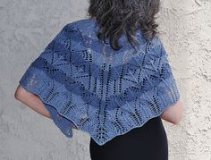 This versatile shawl made with yarn spun from recycled jeans is fun and flexible. After the initial set-up and one round of chart A, you are free to mix and match charts B through E as you wish. Pick one and repeat it as many times as you'd like then add the border. Or explore
