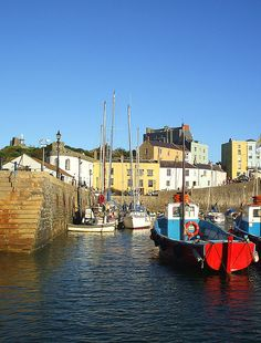 Tenby harbour in Wales Wales Uk, South Wales, Pembrokeshire Wales, Beautiful Places, Beautiful Scenery, England And Scotland, My Horse, British Isles, Great Britain