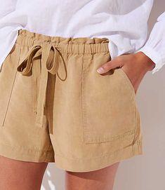 Shop LOFT for stylish women's clothing. You'll love our irresistible Tie Waist Safari Shorts - shop LOFT.com today!