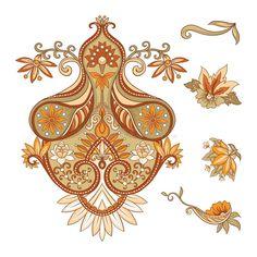 Embroidery imitation of traditional paisley elements. Baroque Decor, Baroque Design, Baroque Pattern, Pattern Art, Paisley Wallpaper, Paisley Art, Textile Patterns, Textile Prints, Textiles