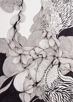 Pen Drawing - Contemporary watercolour artContemporary watercolour art