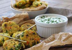 Crocchette di miglio e verdure con salsa alle erbette