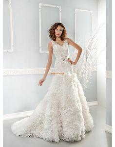 Organza Zip Empírové Svatební šaty 2015