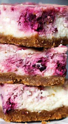 Meyer Lemon Blackberry Cheesecake Bars