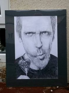 DR House pencil drawing by PeszekArt on Etsy