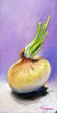 Forgotten Onion, painting by artist Takeyce Walter