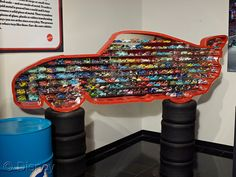 here's what Ayden needs! a cars cars display case like this !!!