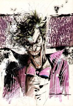 here& a Bad Photo of a Joker piece i did w/ Coloured Sharpies during the Chicago Comic Con. 11 coloured sharpies were in this piece the paper was bristol pad paper -tools- Joker Batman, Joker Y Harley Quinn, Comic Books Art, Comic Art, Kings & Queens, The Man Who Laughs, Riddler, Detective Comics, Geek Art