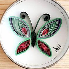 Quilled paper art : '' Butterfly '' _ #QuillingByAslim #quilling #paperart #paper #papel #papier #handmade #wallart #homedecor #butterfly #colourful #love #giftideas #gift #artoftheday #kağıttelkari #kelebek #hediyelik #rengarenk #aşk