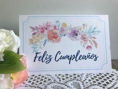 Check out this item in my etsy shop httpsetsylisting printable birthday card in spanish feliz cumpleanos tarjeta spanish greeting card tarjeta en espanol bookmarktalkfo Gallery