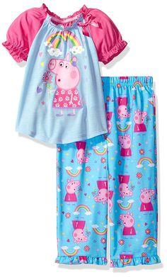 Amazon.com: Peppa Pig Big Girls' 2pc Sleepwear Set: Clothing