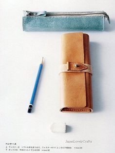 6138283757 Hand-Sewn Leather Zakka Style