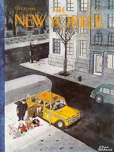 ADDAMS, Charles. The New Yorker, 31st October 1983. Original magazine cover as published in the U.S.A.