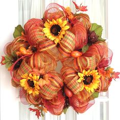 pinterest halloween mesh wreaths | Search Fall wreath ideas and Fall Wreaths on Etsy for more!
