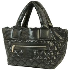 For Sale on - An authentic coco Cocoon totePM Womens tote bag black x silver hardware. The color is black x silver hardware. The outside material is Nylon. Nylon Tote Bags, Womens Tote Bags, Travel Cosmetic Bags, Travel Bag, Smooth Leather, Black Leather, Cocoon, Structured Bag, Chanel Black