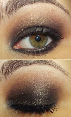 Gold smokey eye for brown eyes All Things Beauty, Beauty Make Up, My Beauty, Beauty Secrets, Hair Beauty, Beauty Hacks, Beauty Ideas, Kiss Makeup, Love Makeup