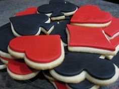 heart and spade cookies