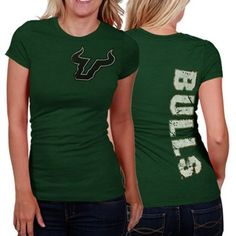 My U South Florida Bulls Ladies Afterthought T-Shirt - Green