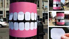 Leuk idee voor Guerilla Marketing van een plaatselijke tandarts