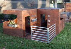 ideas for backyard playground ideas modern playhouse Modern Playhouse, Build A Playhouse, Playhouse Outdoor, Playhouse Ideas, Simple Playhouse, Cubby Houses, Dog Houses, Play Houses, Small Houses