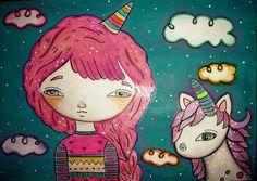 Karen Steph「Greta & the baby unicorn」
