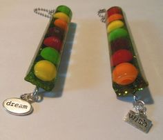Candy skittles resin keychain with charms by Shairose on Etsy, $10.00 handmade