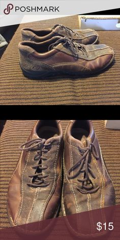 f4479137b70cf Shop Men s Skechers Brown size 11 Sneakers at a discounted price at Poshmark.  Description  Men s sketchers shoes size Sold by sharpright.