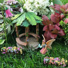 Fairy Garden Miniature Gazebo Set
