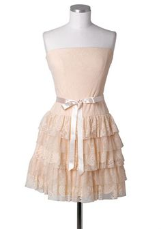 Lace and mesh tiered dress. so cute