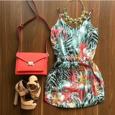 Tropical dress #ootd #teen #fashion #outfits #ootd #cute #stylish #trend #floral #tropical #dress