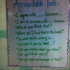 Conversation - Accountable Talk