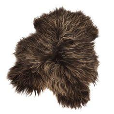 Longhair saueskinn 70x110, brun i gruppen Tepper / Tepper / Saueskinn hos ROOM21.no (1023099)