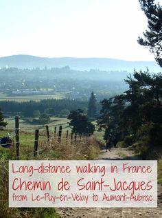 Long-distance walking in France, Chemin de Saint-Jacques from Le-Puy-en-Velay to Aumont-Aubrac