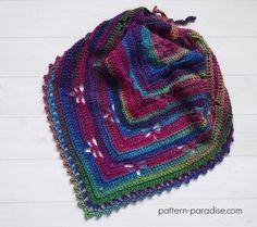 Free Crochet Pattern: Dragonfly Bandana Cowl
